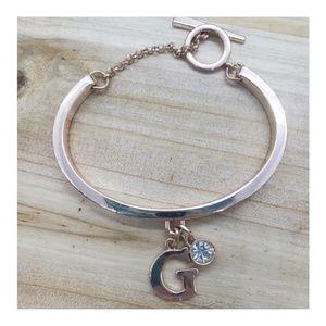 """Initial """"G"""" Cuff Bracelet"""